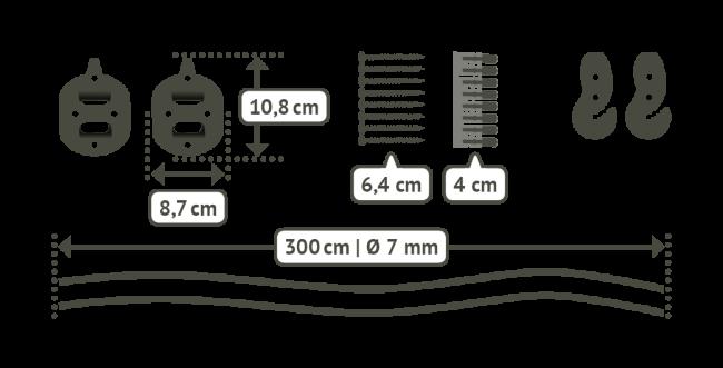 Übersicht der Teile des CasaMount