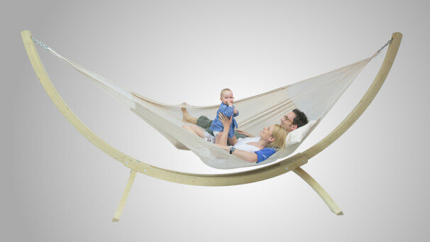 Strong Natural mit Holzgestell La Siesta Canoa Family