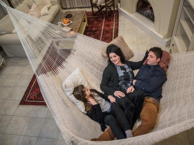 In den Strong Familienhängematten findet eine ganze Familie genug Platz